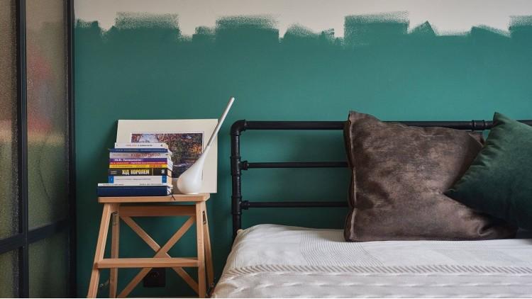 Спальня в дизайн-проекте квартиры в ЖК Комфорт Таун, 65м.кв.— Design Burean