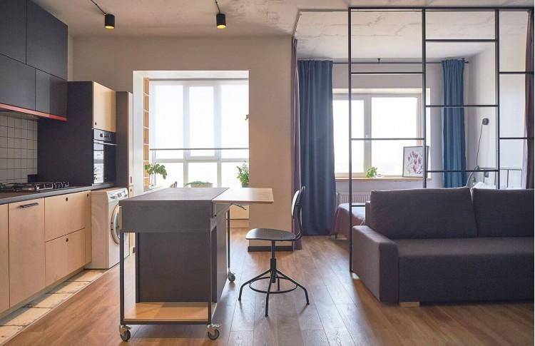 Кухня в дизайн-проекте смарт квартиры в ЖК Львовский Маеток, 38м.кв — Design Burean