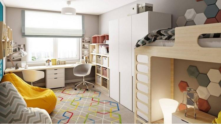Детская в дизайн-проекте квартиры в ЖК Наш будинок, 95 м.кв.— 10:02 Design Burean