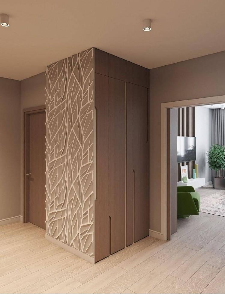Коридор в дизайн-проекте квартиры в ЖК Наш будинок, 95 м.кв.— 10:02 Design Burean