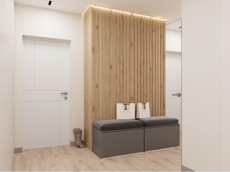 Прихожая в дизайн-проекте 2-комнатной квартиры ЖК Город Цветов — BoDesign