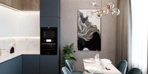 Дизайн-проект  квартиры-студии ЖК Кристал  Парк — 46м.кв