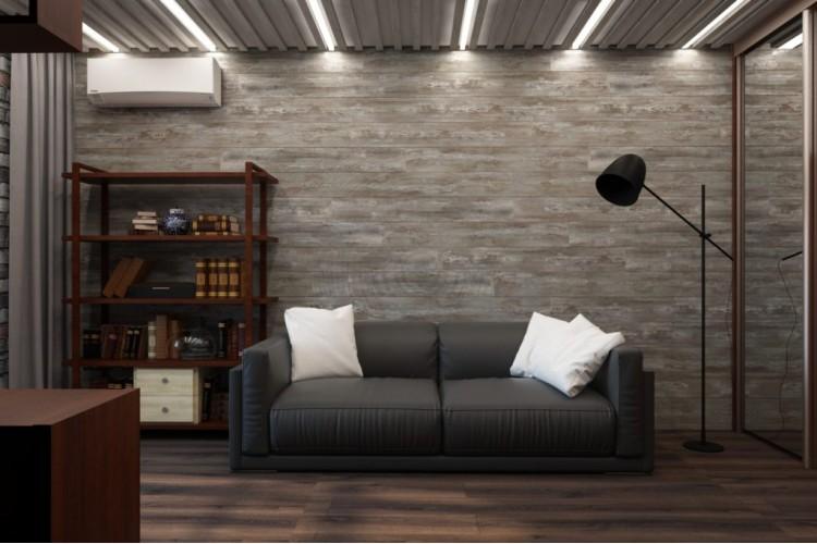 Кабинет — Дизайн-проект квартиры, ул.  Теодора Драйзера — 75 м.кв. — студия дизайна Challenge Design