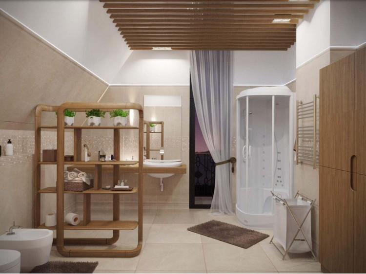 Санузел в дизайн-проекте двухэтажного коттеджа ЖК Белый шоколад-Villago, 200 м.кв. —  студия дизайна HD-DESIGN