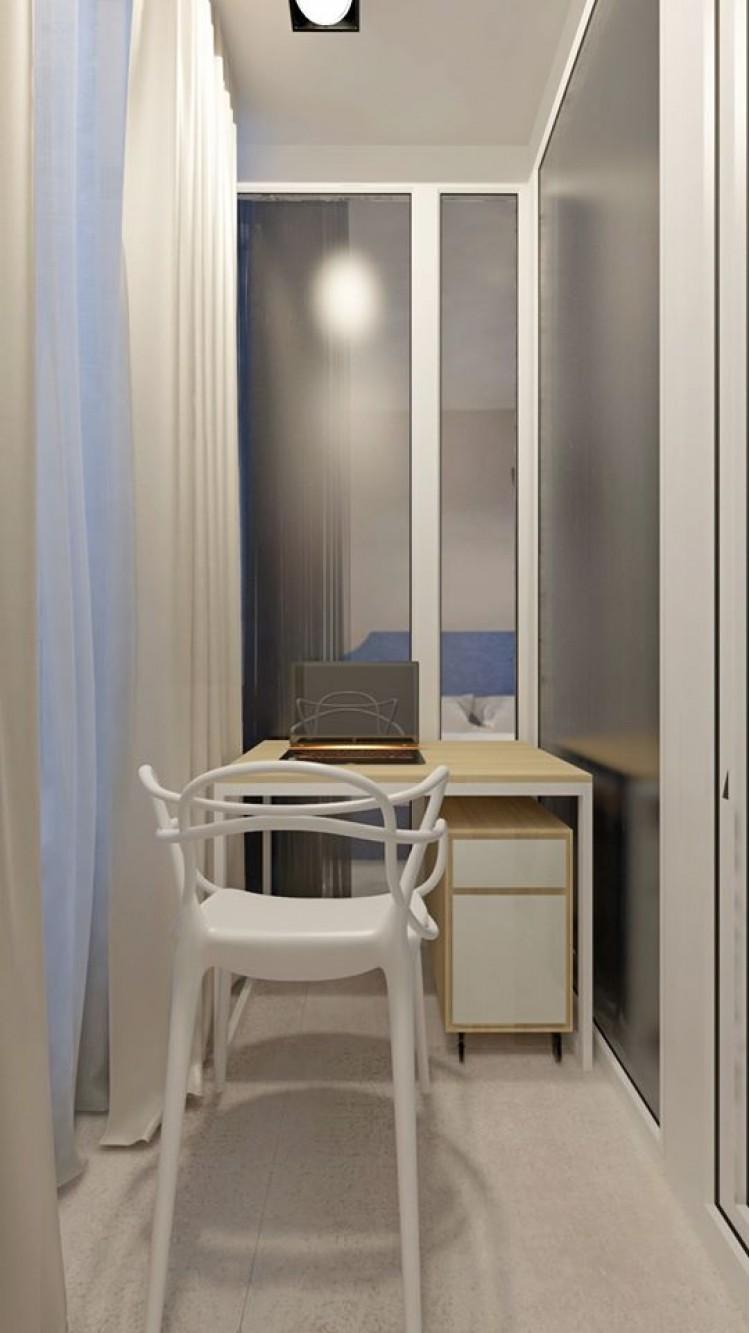 Кабинет в дизайн-проекте квартиры-студии ЖК Славутич — InsideOut
