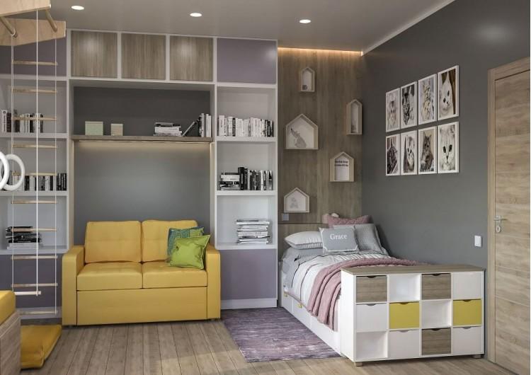 Детская — Дизайн-проект частного дома в стиле лофт, 200 м. кв — студия дизайна Inerior12