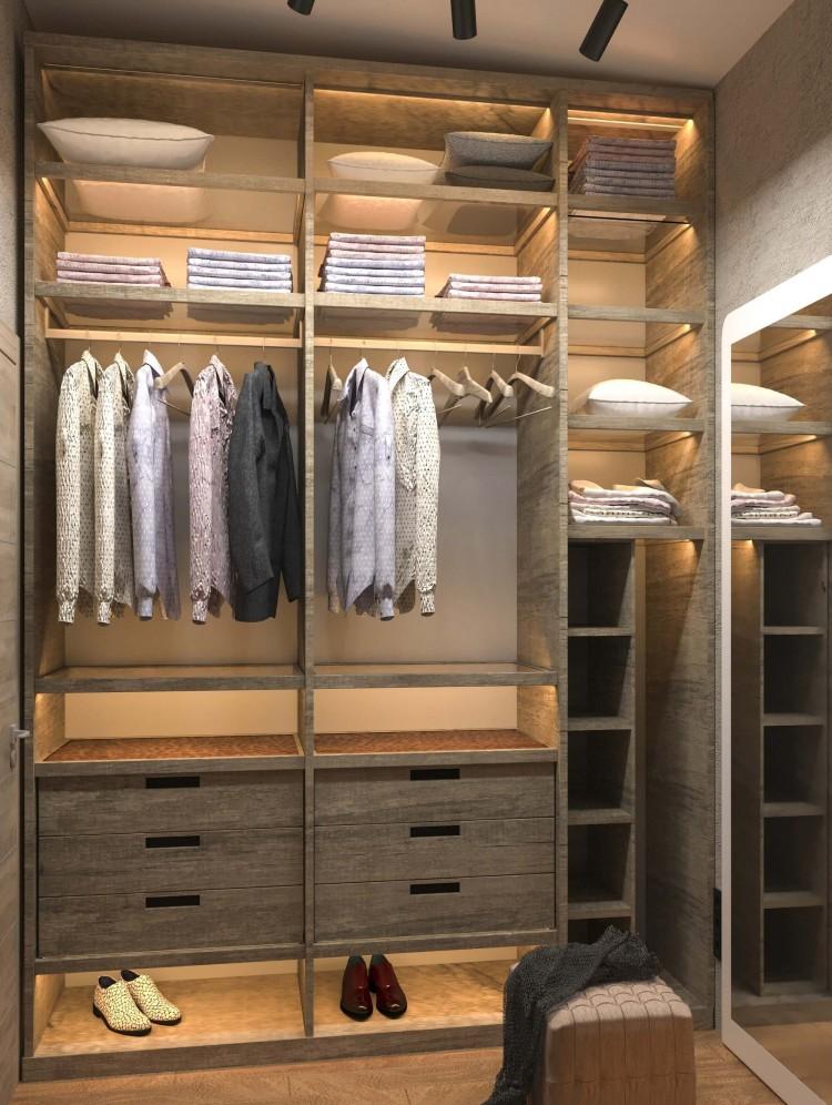 Гардеробная — Дизайн-проект частного дома в стиле лофт, 200 м. кв — студия дизайна Inerior12