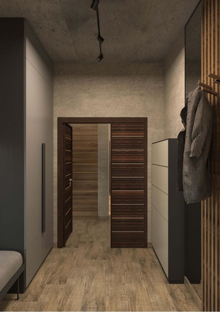 Холл — Дизайн-проект частного дома в стиле лофт, 200 м. кв — студия дизайна Inerior12