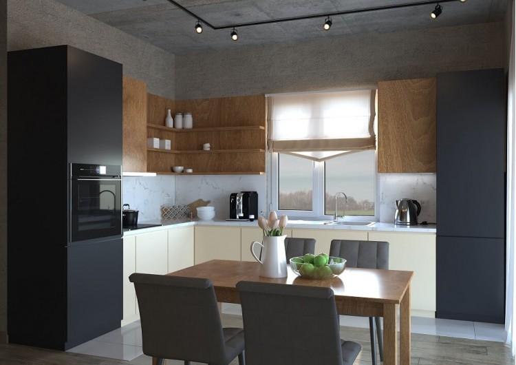 Кухня — Дизайн-проект частного дома в стиле лофт, 200 м. кв — студия дизайна Inerior12