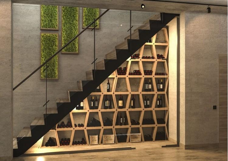 Лестница — Дизайн-проект частного дома в стиле лофт, 200 м. кв — студия дизайна Inerior12