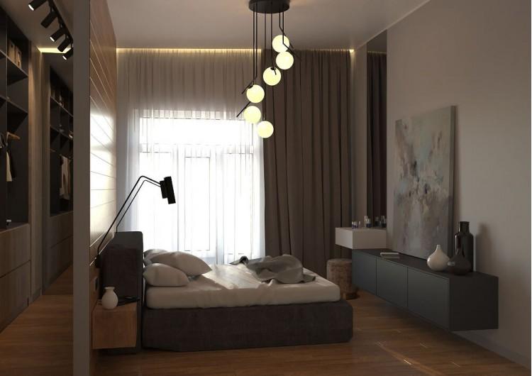 Спальня-2 — Дизайн-проект частного дома в стиле лофт, 200 м. кв — студия дизайна Inerior12