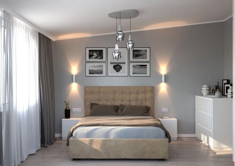 Спальня-1 — Дизайн-проект частного дома в стиле лофт, 200 м. кв — студия дизайна Inerior12