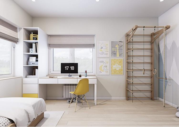 Детская-1 — Интерьер частного дома в современном стиле, 180 м.кв — студия дизайна Inerior12
