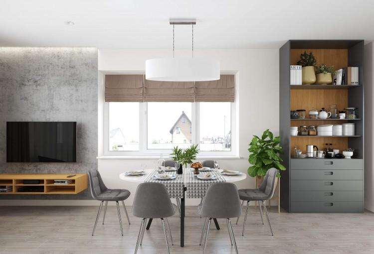 Гостиная — Интерьер частного дома в современном стиле, 180 м.кв — студия дизайна Inerior12