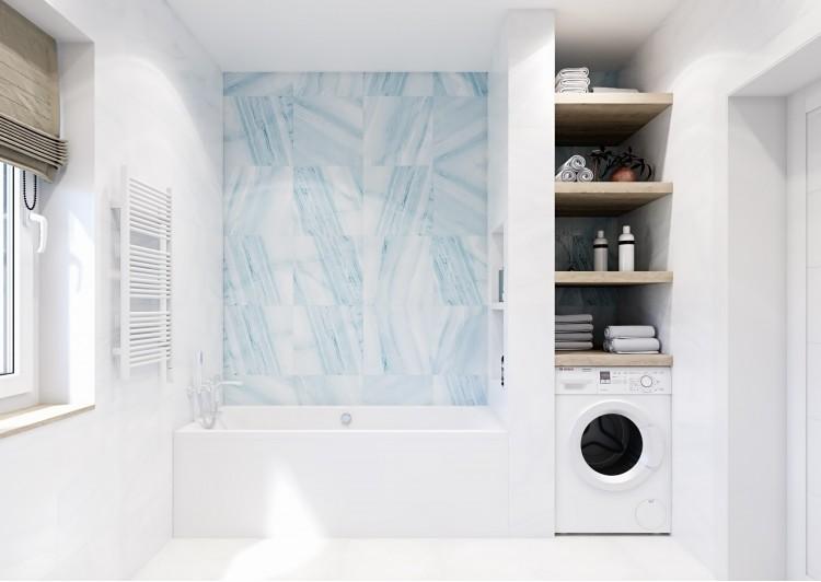 Санузел — Интерьер частного дома в современном стиле, 180 м.кв — студия дизайна Inerior12