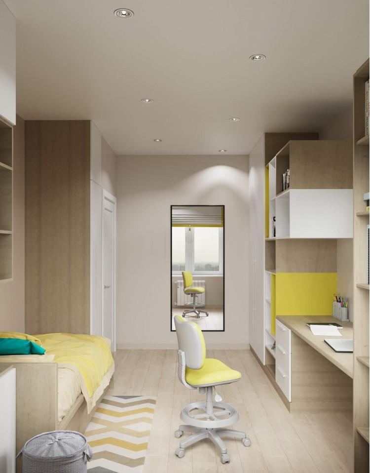 Детская-2 — Интерьер частного дома в современном стиле, 180 м.кв — студия дизайна Inerior12