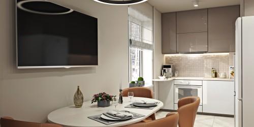 Дизайн-проект 2-комнатной квартиры, 44 м.кв
