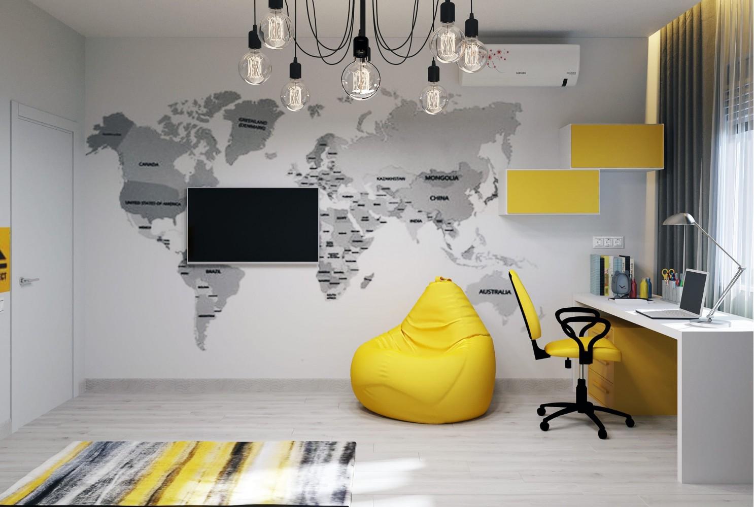 Детская-2 — Дизайн-проект 3-комнатной квартиры в ЖК Статус Групп, 106 м.кв — студия дизайна Inerior12