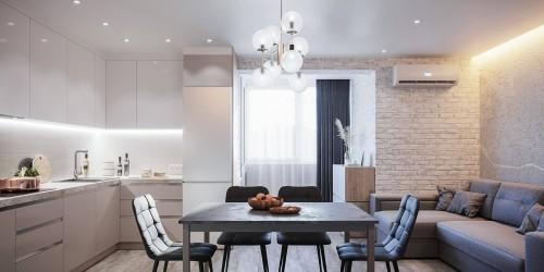 Дизайн-проект 3-комнатной квартиры в ЖК Статус Групп, 106 м.кв