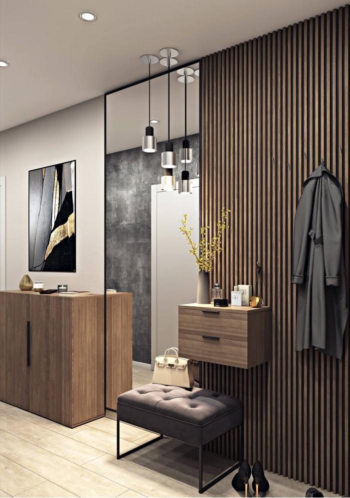 Прихожая — Дизайн-проект 3-комнатной квартиры в ЖК Статус Групп, 106 м.кв — студия дизайна Inerior12