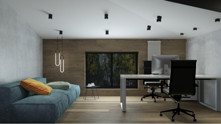 Кабинет в дизайн-проекте 4-х комнатной квартиры — в ЖК Busov Hill — Maksim Tsenkov