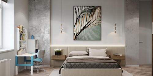 Дизайн-проект  квартиры в  ЖК River Stone, 55 м.кв.