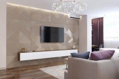 Гостиная в дизайн-проекте квартиры  ЖК Варшавский квартал, 95м.кв — студия дизайна NS interior Design