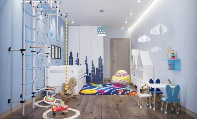 Детская в дизайн-проекте квартиры  ЖК Варшавский квартал, 95м.кв — студия дизайна NS interior Design