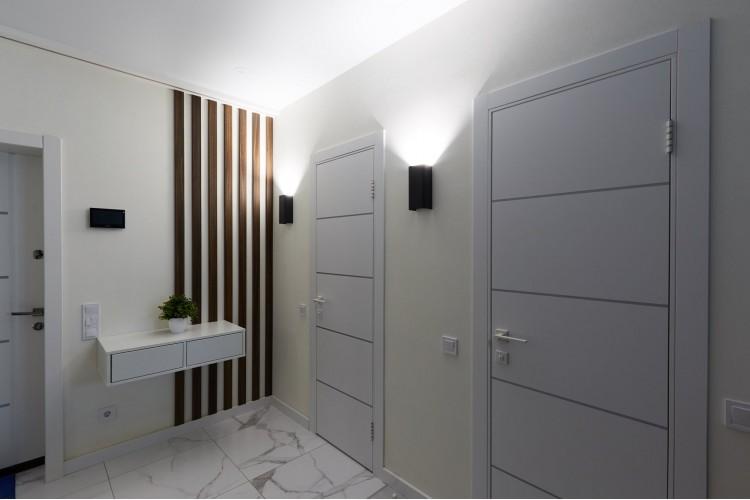 Прихожая в дизайн-проекте 1-комнатной квартиры в ЖК Козацкий — 46м.кв. — NS Interior Design