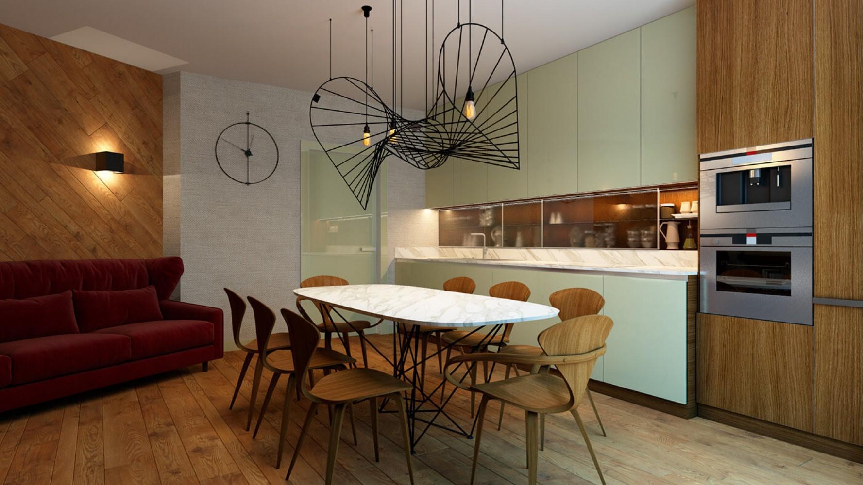 Кухня-гостиная — Дизайн-проект 3-комнатной квартиры, 68 м.кв —  Надежда Власенко