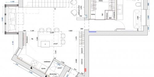 Дизайн-проект 2х уровневой квартиры Коттеджный Городок Grand Villas, 90м.кв