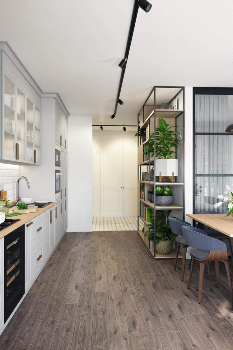 Кухня в стиле минимализм белого цвета, фото 11
