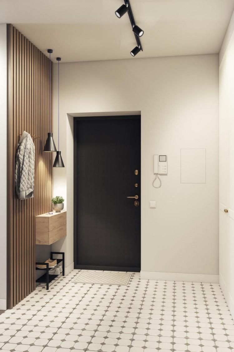 Холл в квартире,  стиль минимализм