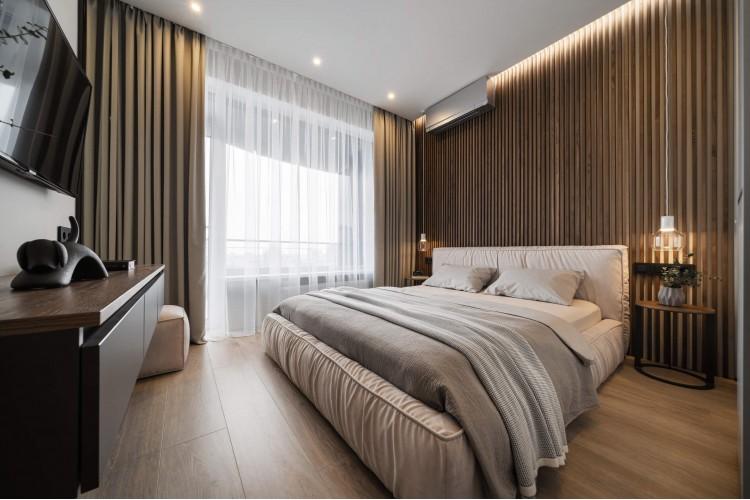 """Спальня — Дизайн-проект 3-комнатной квартиры """"Два Француза"""" в ЖК Alter Ego, 81м.кв — студия дизайна Novoselskiy Design"""