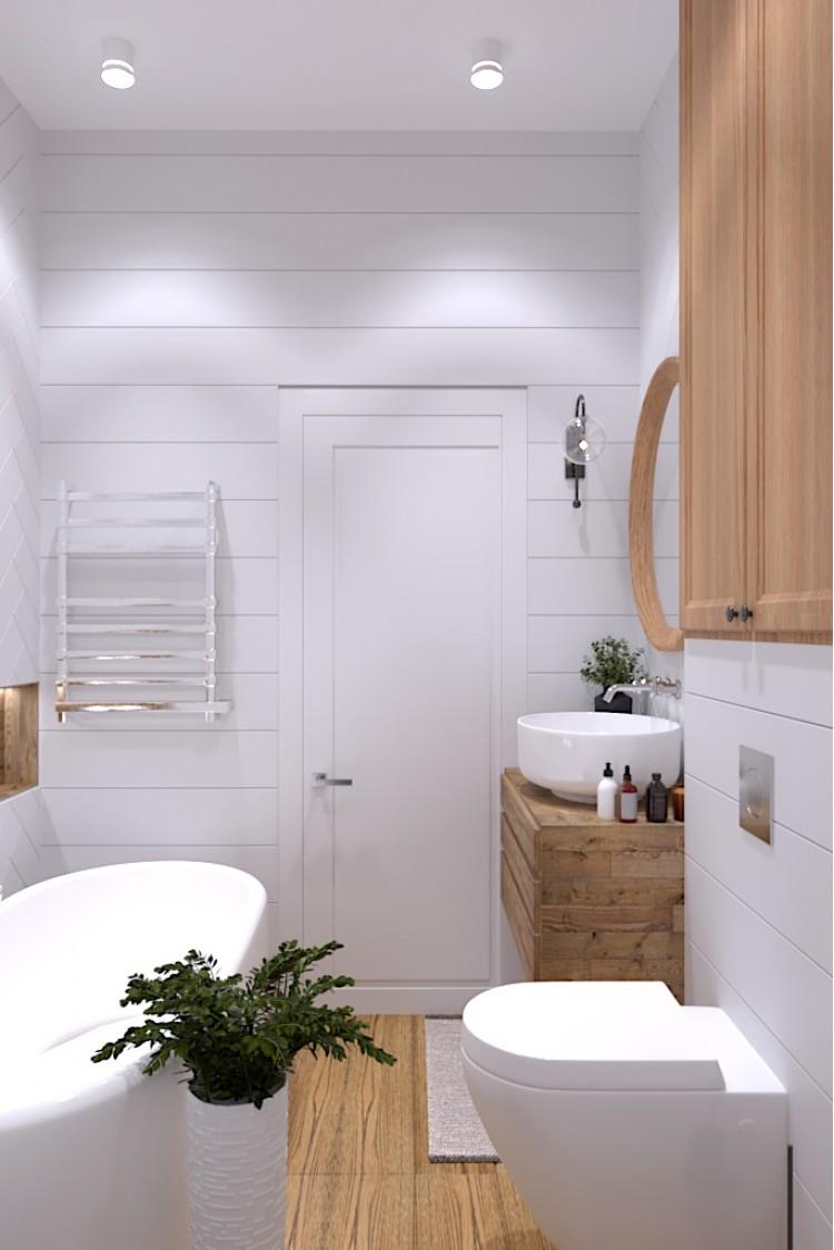 Санузел-2 — Дизайн-проект 3-комнатной квартиры в Эко-стиле, ЖК Комфорт Таун, 77 м.кв — студия дизайна Redis&Co