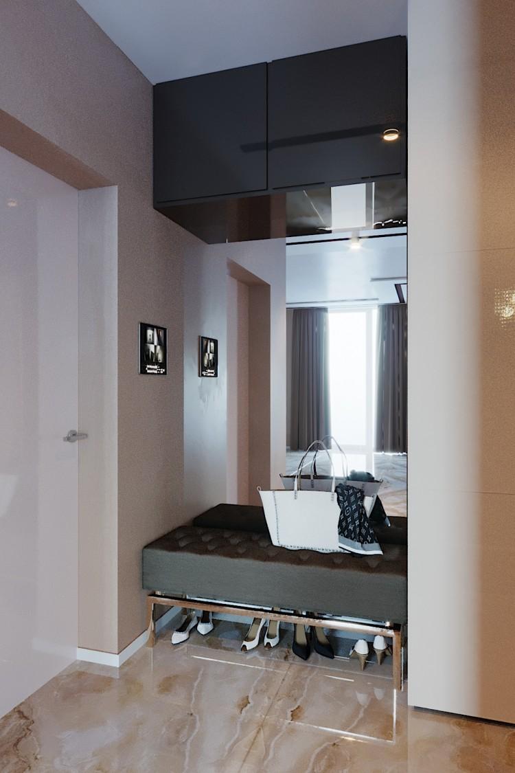 Холл —  Дизайн 5-комнатной квартиры в стиле Арт-деко с элементами классики,  ЖК Комфорт Таун, 140  м.кв — студия дизайна Redis&Co