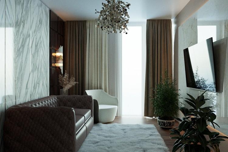 Гостевая комната —  Дизайн 5-комнатной квартиры в стиле Арт-деко с элементами классики,  ЖК Комфорт Таун, 140  м.кв — студия дизайна Redis&Co
