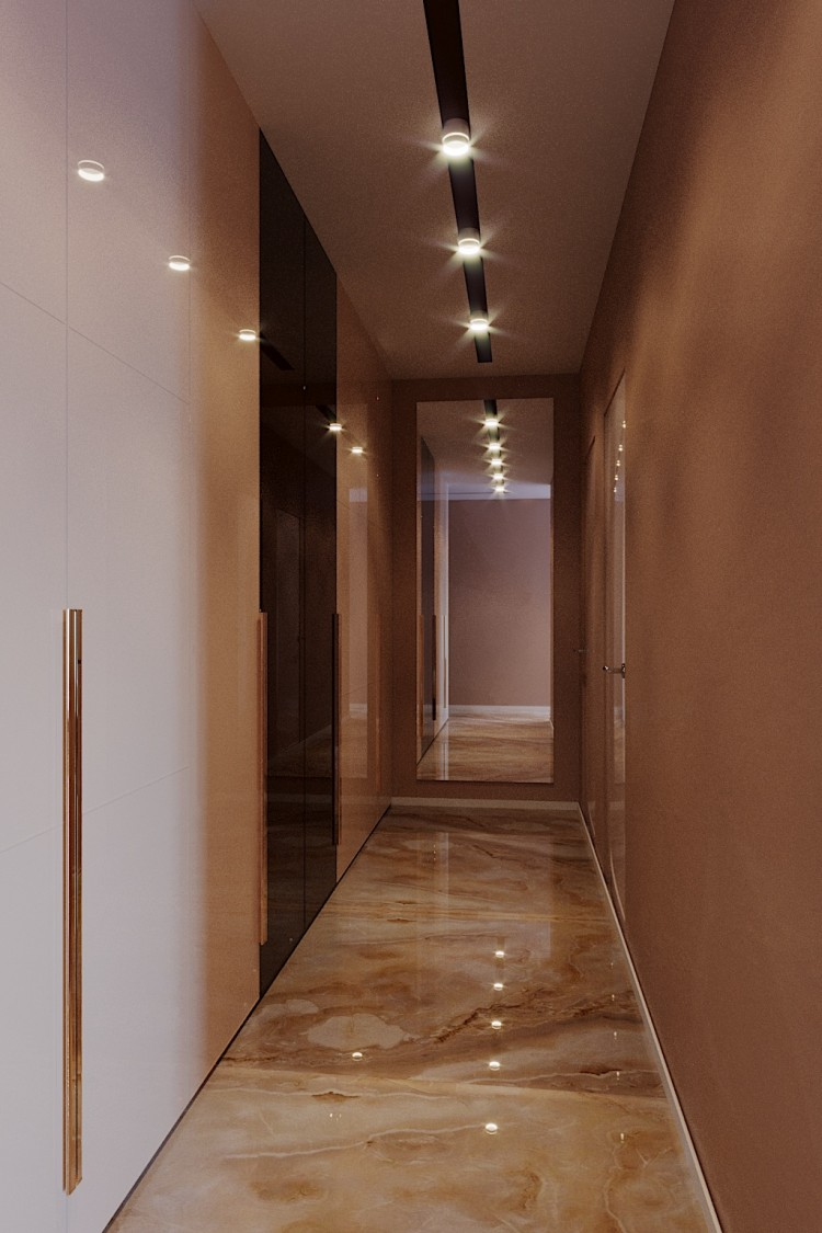 Коридор —  Дизайн 5-комнатной квартиры в стиле Арт-деко с элементами классики,  ЖК Комфорт Таун, 140  м.кв — студия дизайна Redis&Co