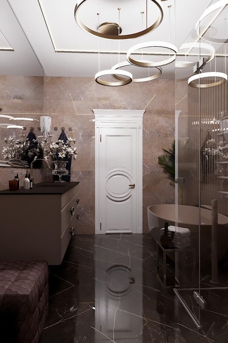 Санузел-2 —  Дизайн 5-комнатной квартиры в стиле Арт-деко с элементами классики,  ЖК Комфорт Таун, 140  м.кв — студия дизайна Redis&Co