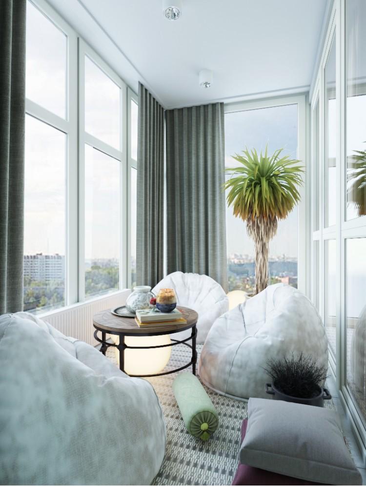 "Балкон — Дизайн-проект 2-комнатной квартиры ""Жить в лесу"" —  Zlata Perevozova"
