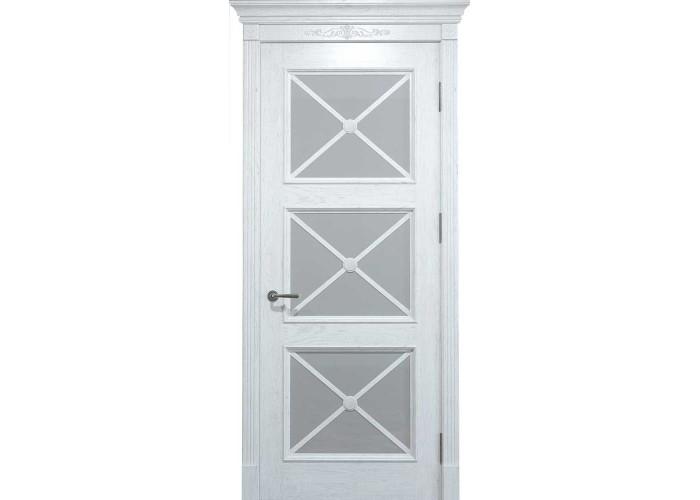 Двери межкомнатные Status Doors Royal Cross RC 022.S01 (Сатиновое стекло)  1