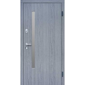 Дверь входная SteelGuard – Resiste – мод. AV-1 Grey Glass