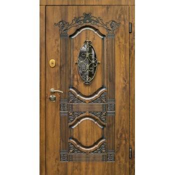 Дверь входная SteelGuard – Resiste – мод. Sangria Glass