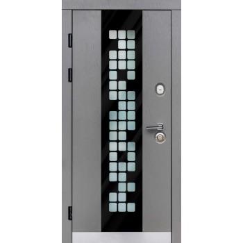 Дверь входная для квартиры SteelGuard – Maxima – мод. Manhattan Grey Light