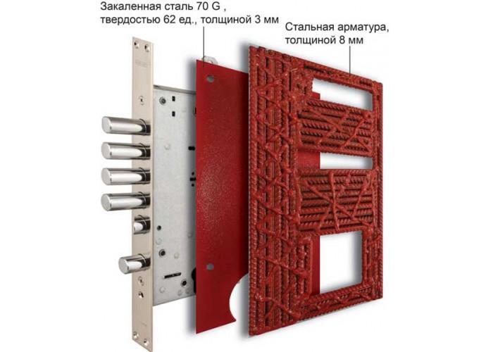 Дверь входная сейфового типа – SteelGuard – Guard – мод. Neoline  7