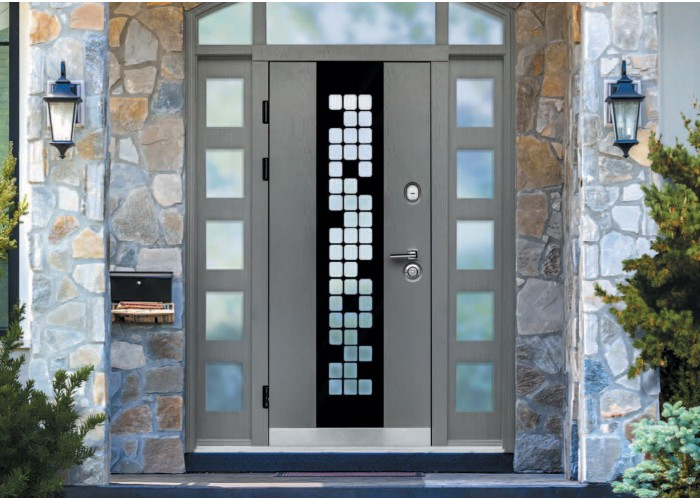 Дверь входная для квартиры SteelGuard – Maxima – мод. Manhattan Grey Light  2