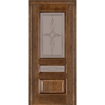 Двери Terminus Caro 53 03.ПО (Сатиновое стекло Бронза 08)