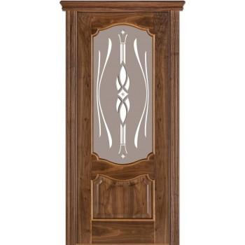 Двери Terminus Caro 41 09.ПО (Сатиновое стекло Бронза Бевелз 09)