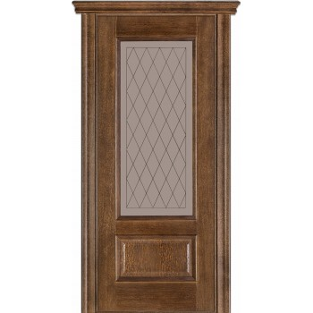 Двери Terminus Caro 52 21.ПО (Сатиновое стекло Бронза рисунок 21)