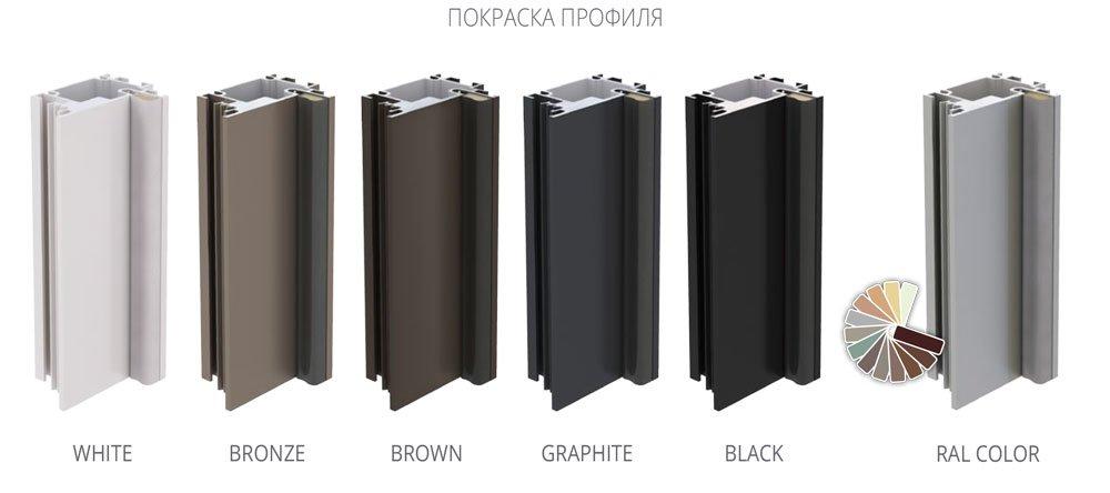 Варианты покраски дверного алюминиевого короба для скрытого монтажа